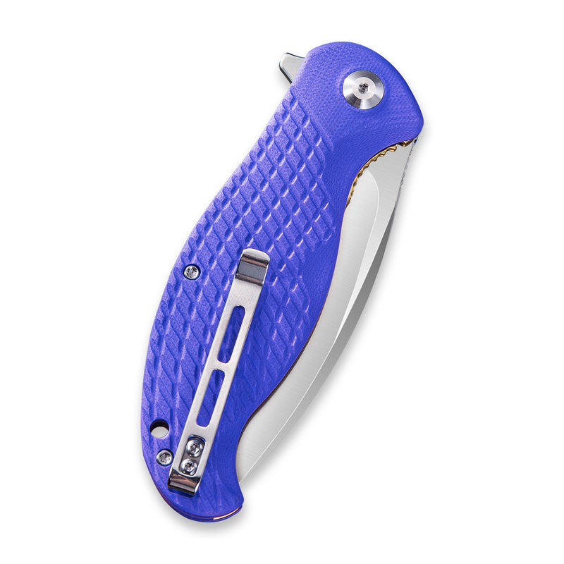 Naja Flipper Knife Blue G10 Handle (3.75'' 9Cr18MoV ) C802B