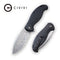 Naja Flipper Knife Black G10 Handle (3.75'' Damascus) C 802DS