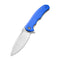 Praxis Flipper Blue G10 Handle (3.75'' Satin 9Cr18MoV) C 803E
