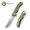 Courser Flipper Knife OD Green G10 Handle (3.45'' Satin Japanese VG-10) C 804A