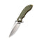 Aquila Flipper Knife OD Green G10 Handle (3.45'' Satin Japanese VG-10) C 805B