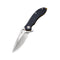 Aquila Flipper Knife Black G10 Handle (3.45'' Satin Japanese VG-10) C 805F
