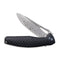 Wyvern Liner Lock Knife Black Fiber-glass Reinforced Nylon Handle (3.45'' Damascus) C902DS