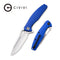Wyvern Liner Lock Knife Blue Fiber-glass Reinforced Nylon Handle (3.45'' Satin D2) C 902E