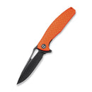 Wyvern Liner Lock Knife Orange Fiber-glass Reinforced Nylon Handle (3.45'' Black Stonewashed D2) C 902G