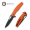 Wyvern Liner Lock Knife Orange Fiber-glass Reinforced Nylon Handle (3.45'' Black Stonewashed D2) C902G