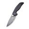 Anthropos Flipper Knife Black G10 Handle with Carbon Fiber Overlay (3.25''Damascus) C 903DS