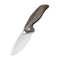 Anthropos Flipper Knife Black Stonewashed Brass Handle  (3.25'' Satin 154CM) C903D