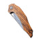 Plethiros Liner Lock Knife Golden Sandalwood Handle (3.45'' Damascus) C 904DS-2