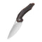 Plethiros Liner Lock Knife Black Hand Rubbed Copper Handle (3.45'' Satin 154CM) C904D