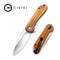 Elementum Flipper Knife Rosewood Handle (2.96'' Satin D2) C907C