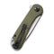Elementum Flipper Knife OD Green G10 Handle (2.96'' Satin D2) C 907E