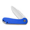 Elementum Flipper Knife Blue G10 Handle (2.96'' Satin D2) C907F