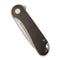 Elementum Flipper Knife Black Stonewashed Brass Handle (2.96'' Stonewashed D2) C907G