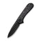 Blade HQ Exclusives SKU - Elementum Flipper Knife Marble Carbon Fiber Handle (2.96'' Black Stonewashed D2) C 907J
