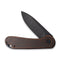 Blade HQ Exclusives SKU - Elementum Flipper Knife Black Stonewashed Copper Handle (2.96'' Black Stonewashed D2) C 907L
