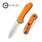 Elementum Flipper Knife Orange G10 Handle (2.96'' Satin D2) C907R
