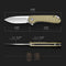 Elementum Flipper Knife Olive Micarta Handle Handle (2.96'' Satin D2) C907S