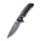 Incite Flipper Knife Shredded Carbon Fiber And Copper Shred In Clear Resin Handle (3.7'' Damascus) C 908DS-2