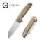 "Brigand Flipper Knife Tan G10 Handle (3.46""  Satin D2) C 909B"