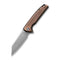 "Brigand Flipper Knife Copper Black Hand Rubbed Handle (3.46"" Satin 154CM) C909D"