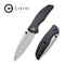 "Governor Thumb Studs Knife Black G10 Handle (3.86"" Damascus) C 911DS"