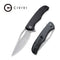Shredder Liner Lock Knife Black Coarse G10 Handle (3.7'' Damascus) C 912DS