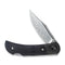 "Rustic Gent Lock Back Knife Black G10 Handle With Carbon Fiber Bolster (2.97"" Damascus) C 914DS-1"