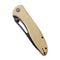 "Picaro Thumb Studs Knife Tan Coarse G10 Handle (3.94"" Black stonewashed D2) C 916B"