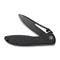 "Picaro Thumb Studs Knife Black Coarse G10 Handle (3.94"" Black stonewashed D2) C 916D"