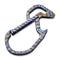 Click  Flamed Ti Carabiner Keychain Multi-Tool CA-01B