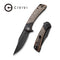 "Dogma Flipper Knife Black Polished Copper Handle (3.46""Black Stonewashed D2) C 2014B"