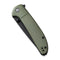 "Badlands Vagabond Flipper Knife OD Green Fiber-glass Reinforced Nylon Handle (3.25"" Black Stonewashed 9Cr18MoV) C 2019B"