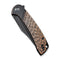 "Dogma Flipper Knife Black Polished Copper Handle (3.46""Black Stonewashed D2 ) C2014B"