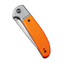 "Trailblazer Orange G10 Onlay On Gray Stainless Steel Handle (2.97"" Gray Stonewashed 14C28N )   C2018A"