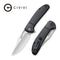"Ortis Flipper Knife Black Fiber-glass Reinforced Nylon Handle (3.25"" Satin 9Cr18MoV) C 2013B"