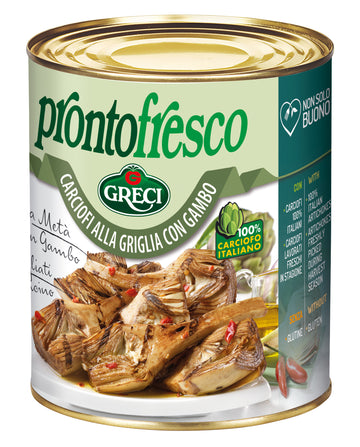 Prontofresco - Grilled Artichokes With Stem #6428 (780g)