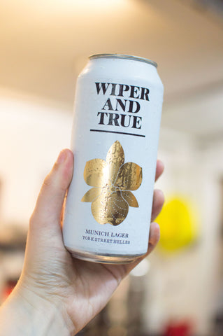 Wiper and True - York Street Helles, fresh off the canning line.