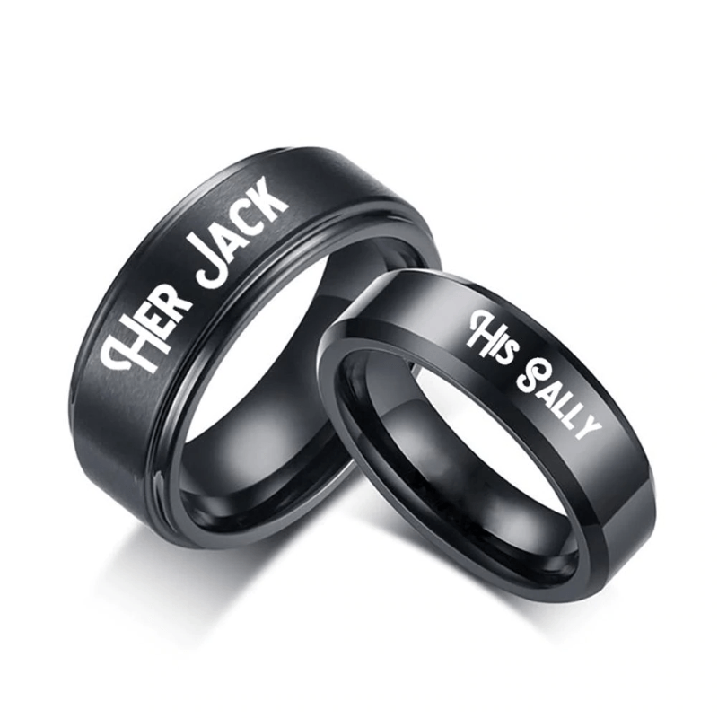 Jack And Sally Couple Ring