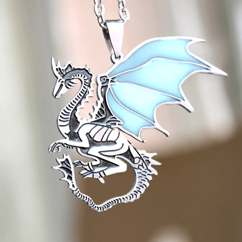 Game Of Thrones Glowing Dragon Necklace