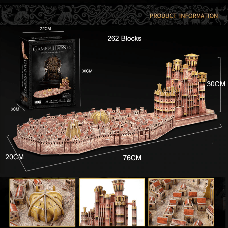 Game Of Thrones King's Landing 3D Puzzle