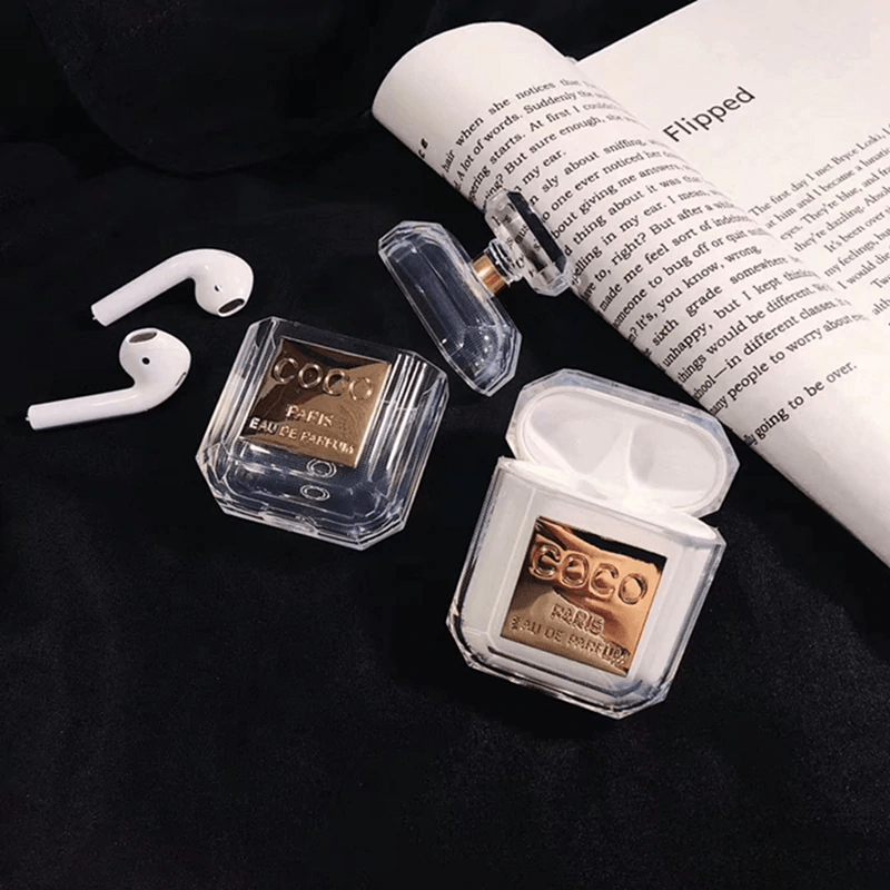 Coco Chanel Transparent Airpods Case