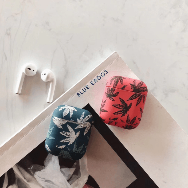 Cannabis Leaf Airpods Case