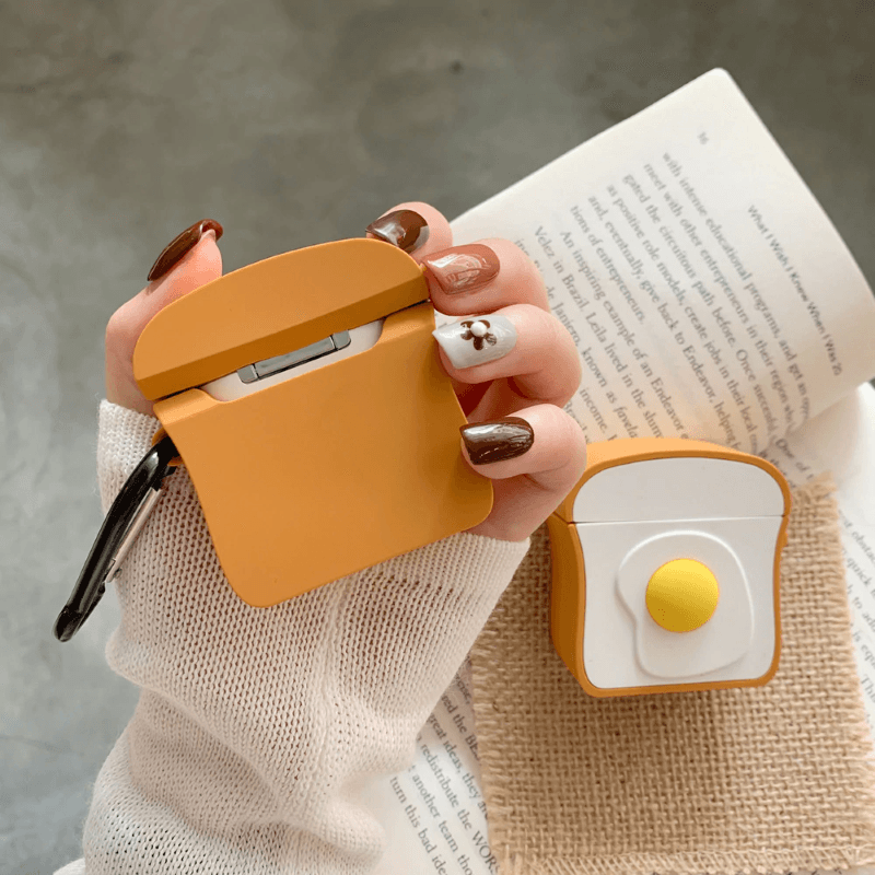 Egg Toast 3D Airpods Case