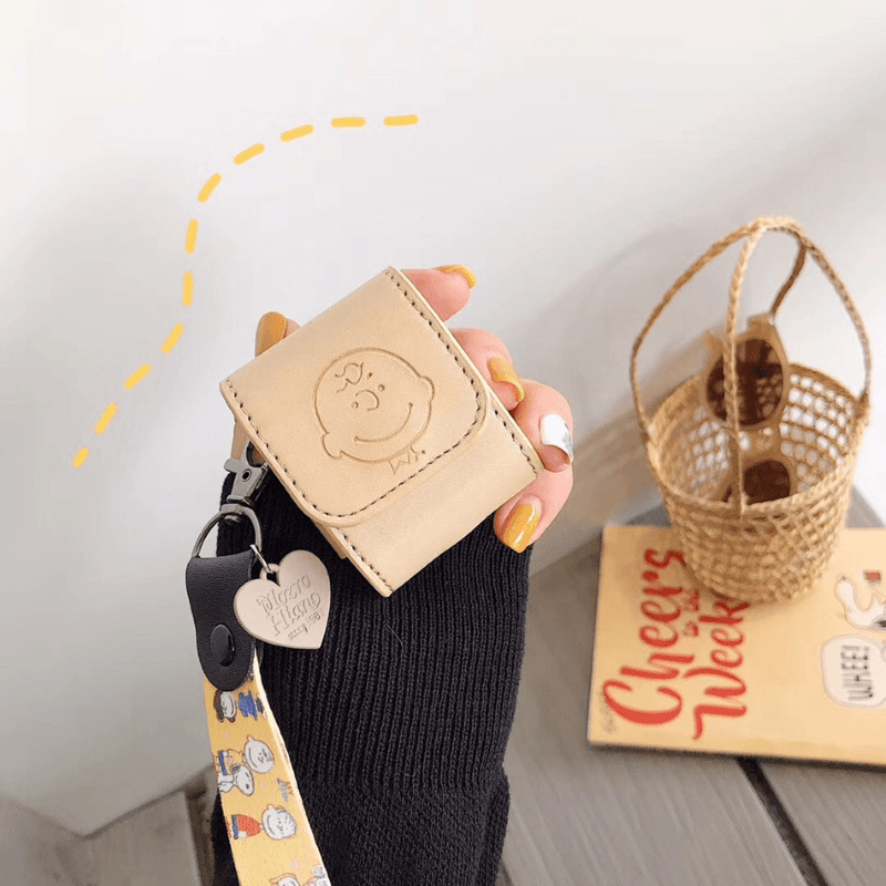 Charlie Brown Leather Airpods Bag