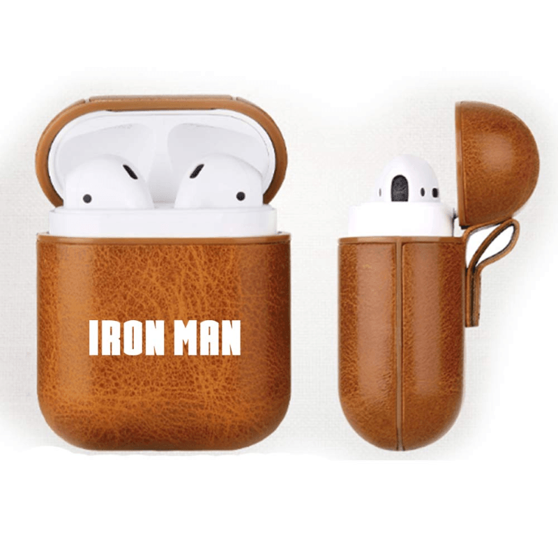 Iron Man Leather Airpods Case