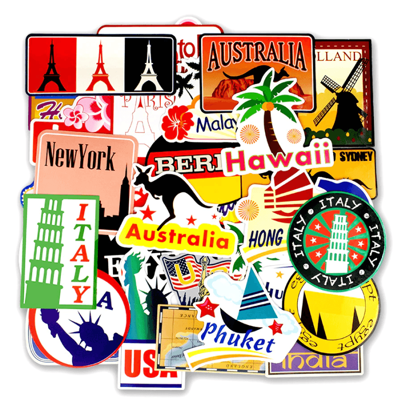 Around The World Stickers