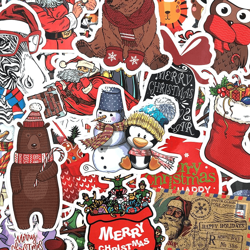 Happy Merry Christmas Stickers