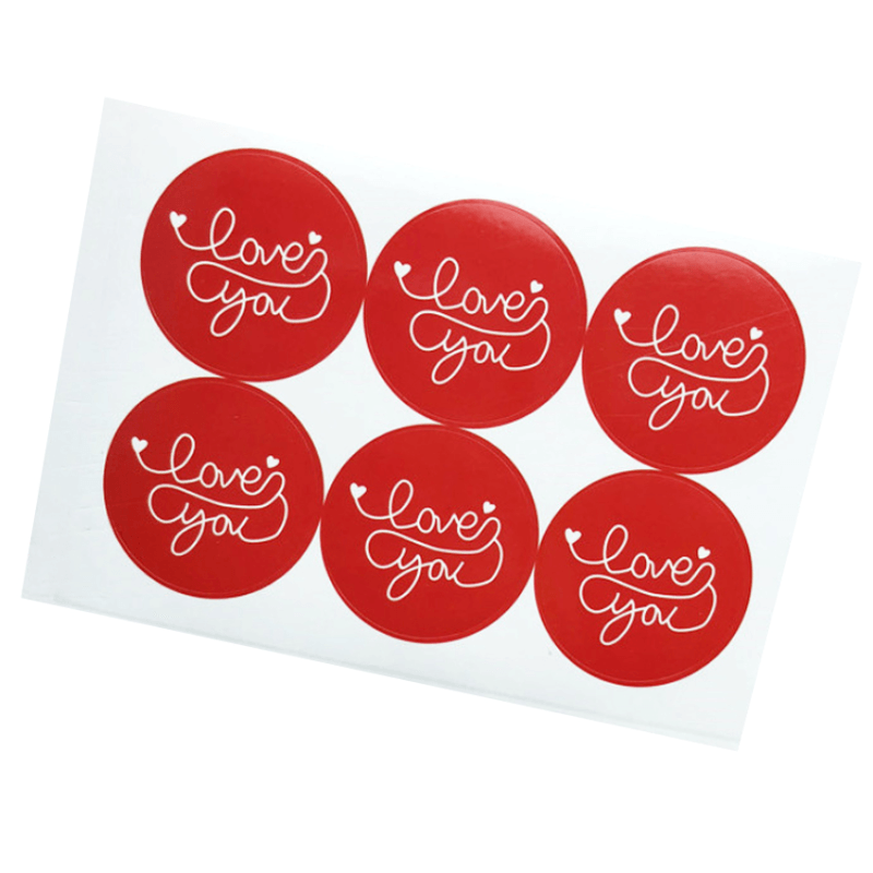 Love You Seal Stickers