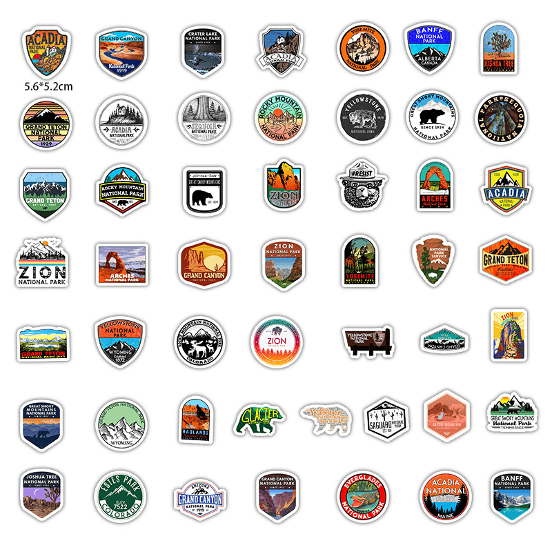 National Park Zoo Stickers